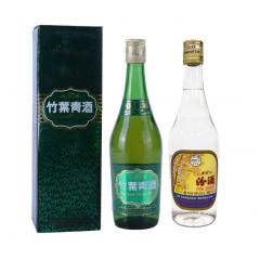 2004-2005年38度竹叶青500ml+2012年53度汾酒500ml--