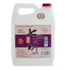 七必坊 山西汾酒产地杏花村镇40度2.5L 5斤装散装桶装白酒 老传统玫瑰酒单瓶装