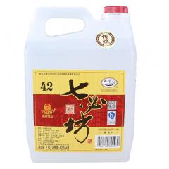 七必坊 山西汾酒产地杏花村镇2.5L 5斤装散装桶装清香型白酒粮食酒 老传统42度单瓶装