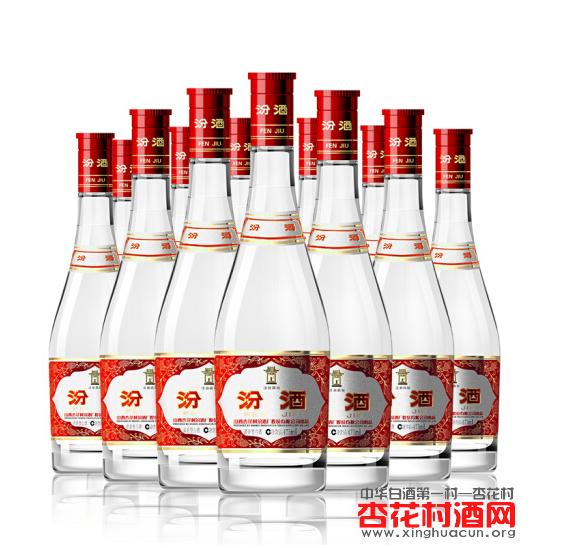 玻汾42度汾酒475ml×12瓶 整箱装 清香型白酒(红盖汾酒)