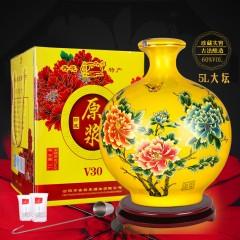 花开富贵原浆酒10斤清香型60度大坛装纯粮食酒高粱酒白酒礼盒特价--