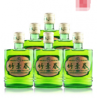 汾酒38度竹叶春酒125ML六瓶装低度小