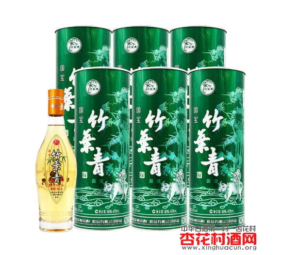 38度国宝竹叶青酒475mL整箱六瓶装